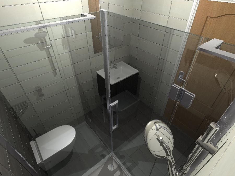 Virtual Design For A Luxury Ensuite Shower Room Viewed From Inside The Frameless Shower