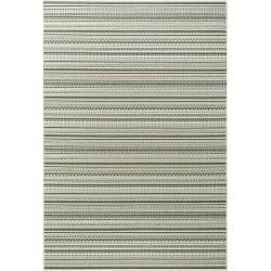 benuta In- & Outdoor-Teppich Capri Grün/Beige 140×200 cm – für Balkon, Terrasse & Garten benuta