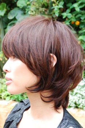 マッシュレイヤー 彡 ボブパーマ 髪型 ヘアスタイル