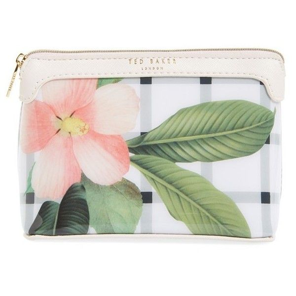d01b76807d77ba Ted Baker London  Secret Trellis  Floral Cosmetics Case (€40) ❤ liked on  Polyvore featuring beauty products