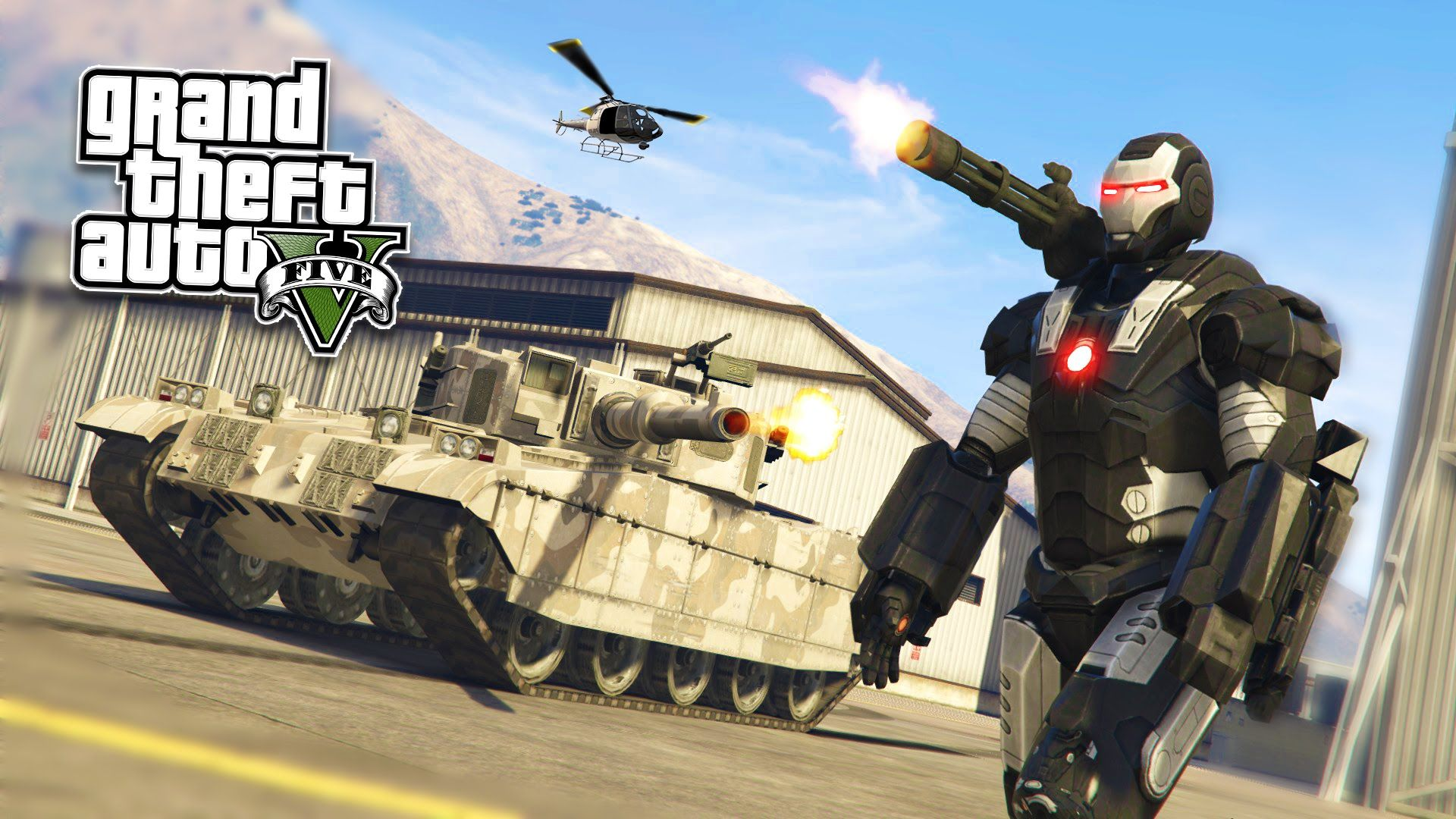 GTA 5 PC Mods - WAR MACHINE Iron Man Mod!!! GTA 5 War