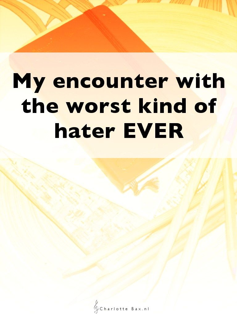 My encounter with the worst kind of hater EVER • CharlotteBax.nl