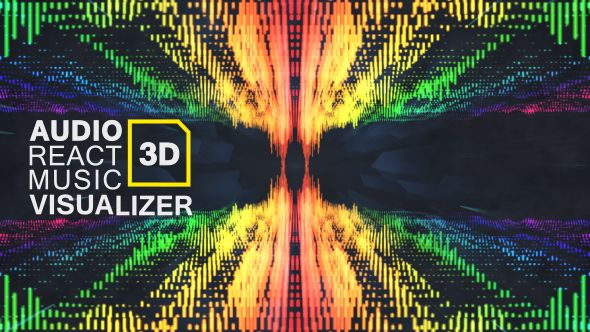Audio React Music Visualizer D After Effects Template Download - Music video template after effects