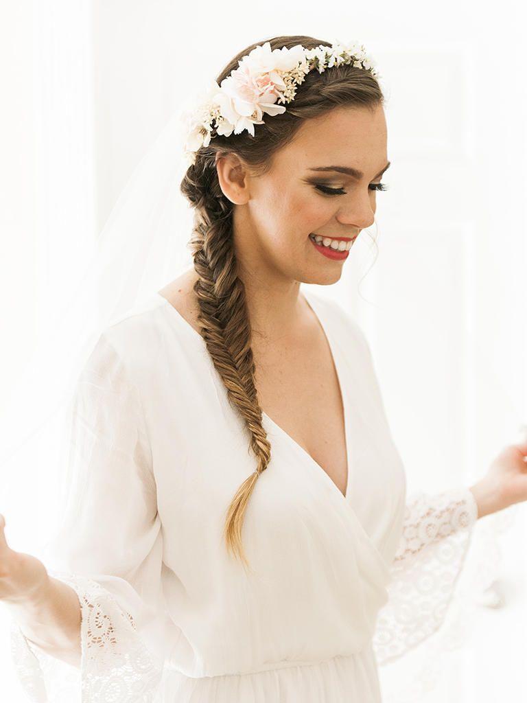 18 Coachella Trends Every Boho Wedding Needs | Bridal fishtail braid ...