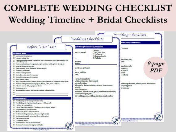nautical wedding timeline printable wedding to do lists printable