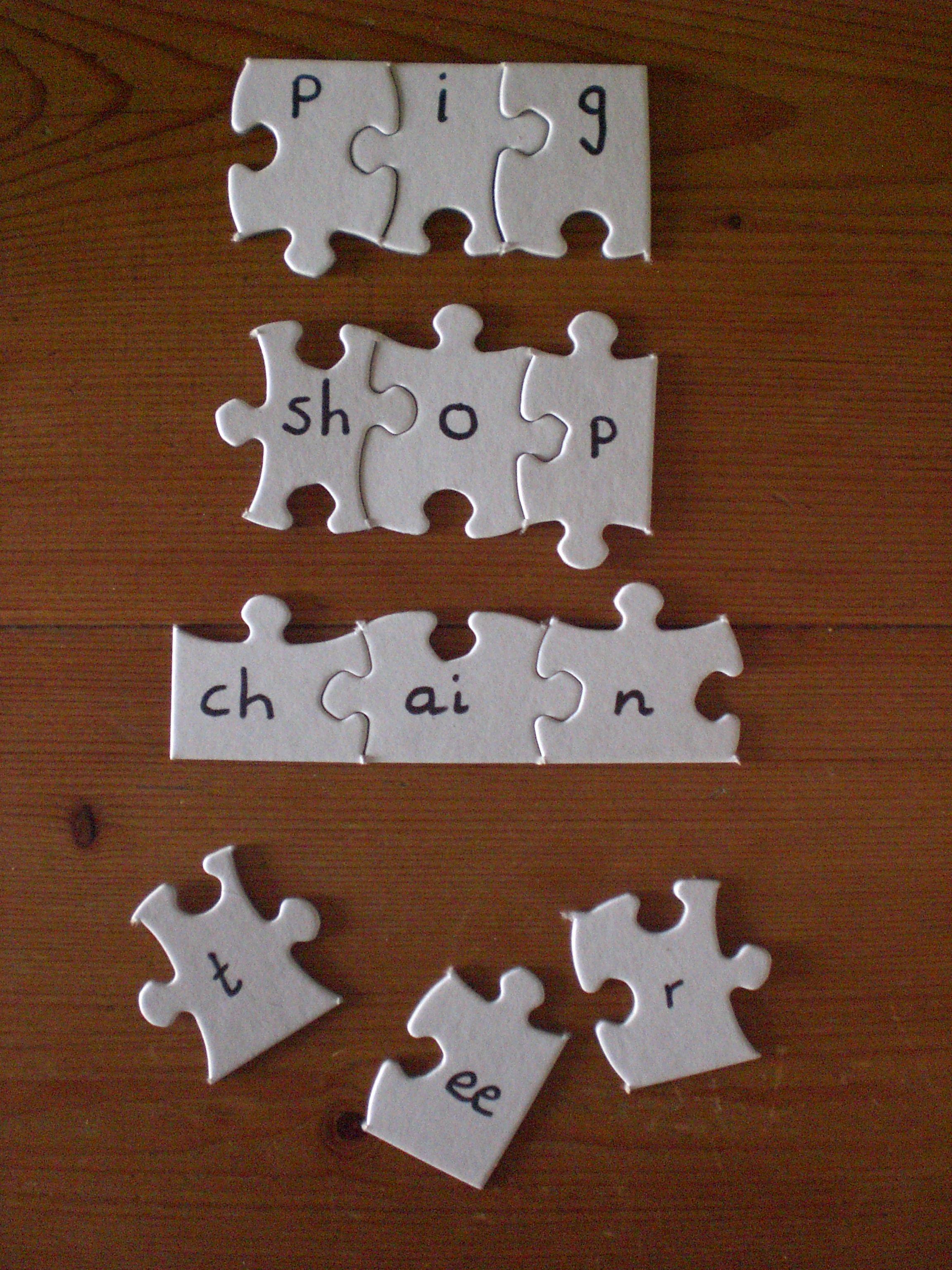 Vowel Word Cards And Puzzles Kindergartenklubcom