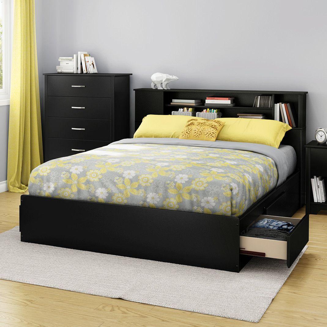 Fusion Queen Storage Platform Bed Platform bed, Bed