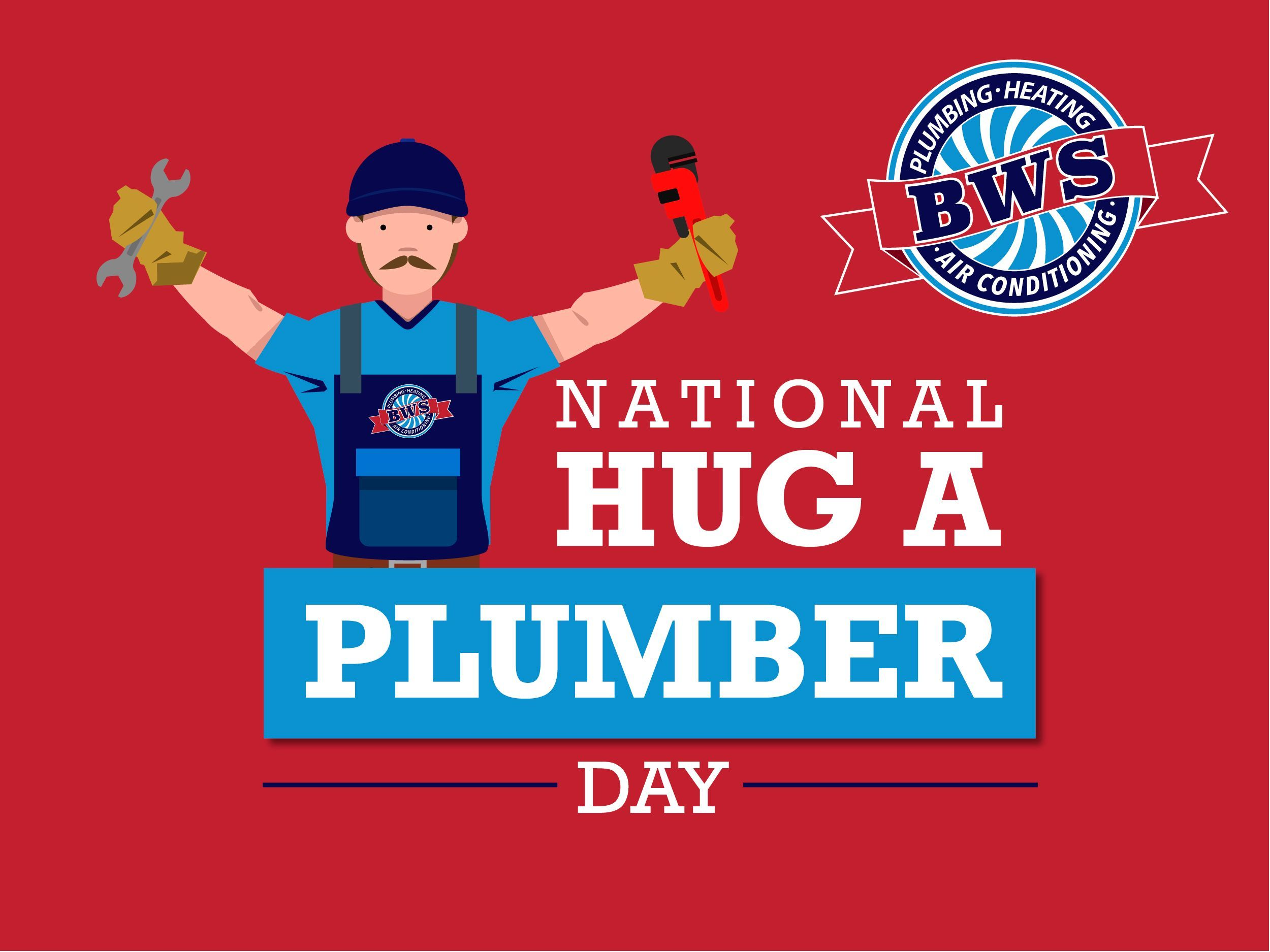 It S National Hug A Plumber Day Whether You Send A Virtual Hug Or An Emoji To Your Favorite Plumber Mak In 2020 Virtual Hug Plumber Heating And Air Conditioning