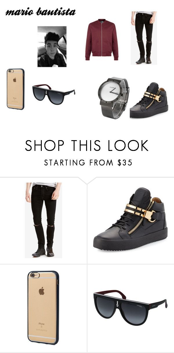 """Sin título #36"" by mariana-957 on Polyvore featuring Topman, Levi's, Giuseppe Zanotti, Incase, Carrera, men's fashion y menswear"