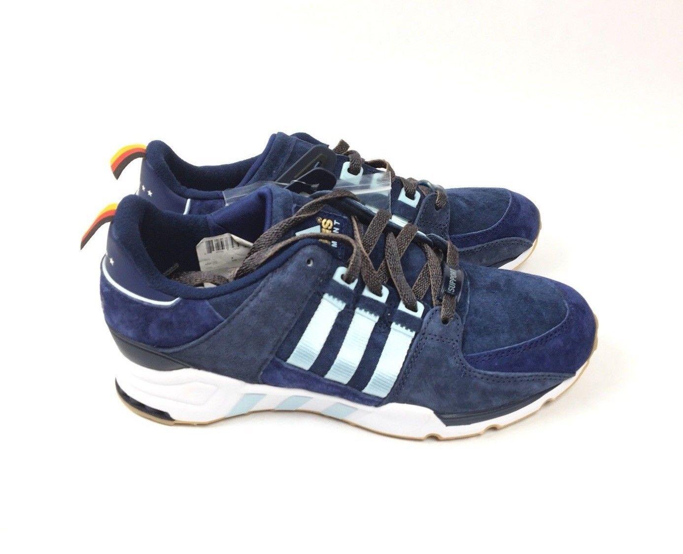 281c0ec97d57 New Adidas EQT 93 Equipment Berlin Marathon LTD Men Size 8 Navy Ice Blue  B27662