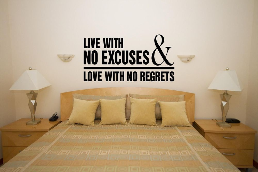 No Excuses Custom vinyl wall decals, Stick on wall art, Wall decals ...