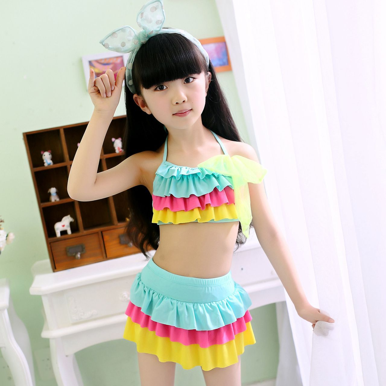db4c39e78fb1 ... Swim suit 2 3 4 5 6 7 8 Years old. >> Click to Buy << 2017  New Summer Kid Girls