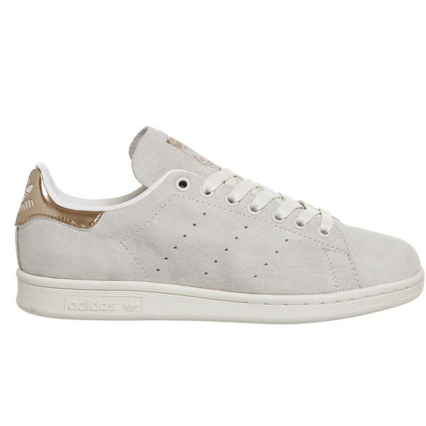 Adidas Stan Smith Chalk White Copper Exclusive ($89) ❤ liked on ...