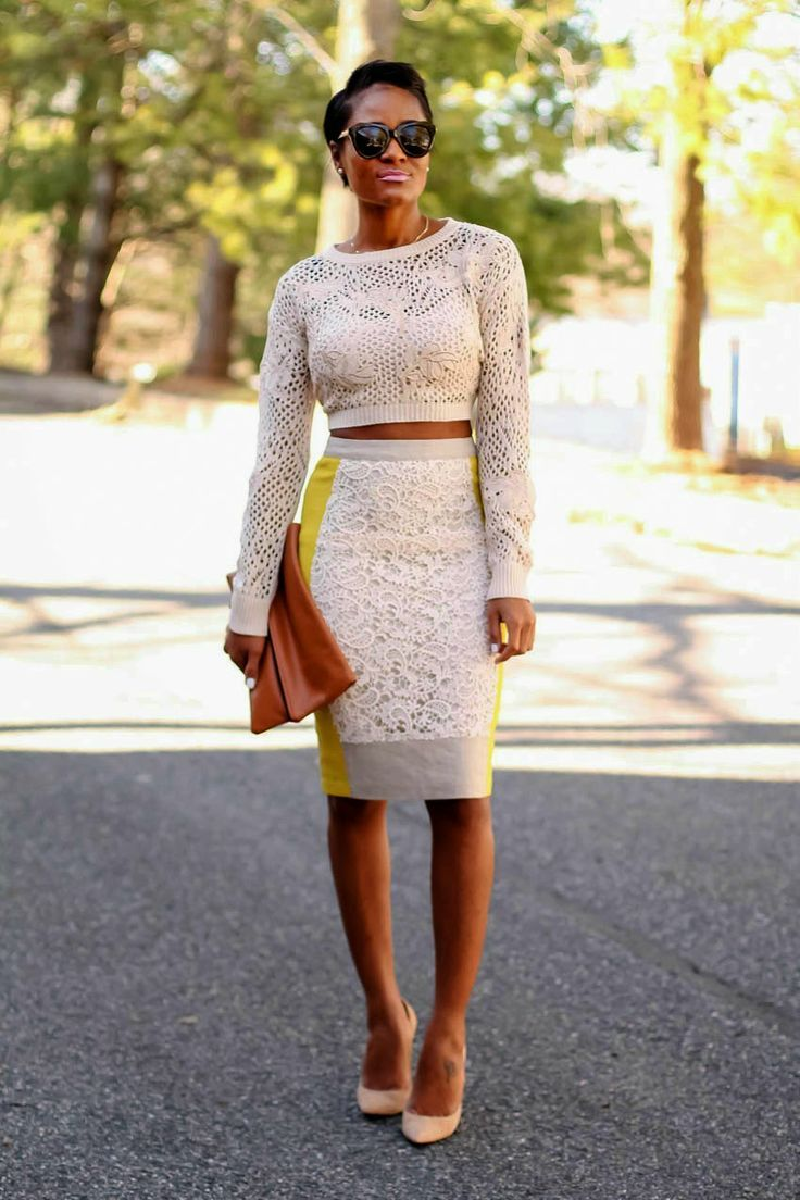 Waisted high pencil skirt and crop top recommend dress for spring in 2019