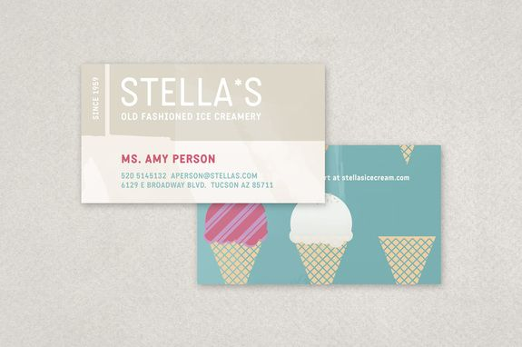 Graphic Ice Creamery Business Card Template Inkd Business Card Template Design Business Card Template Business Cards Creative Templates