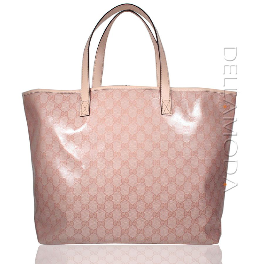 4c106022178ca Gucci Canvas bag Leather Joy Tote handbag GG logo Pink 238696 (GG1658) -  Look stylish at the beach or just shopping in this Gucci Tote.