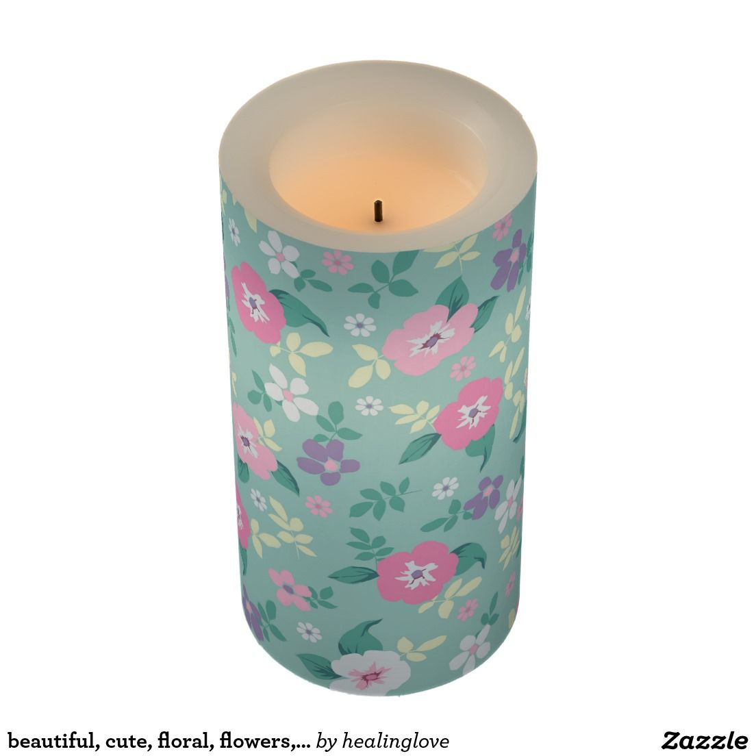 beautiful, cute, floral, flowers, girly, mint, pin flameless candle