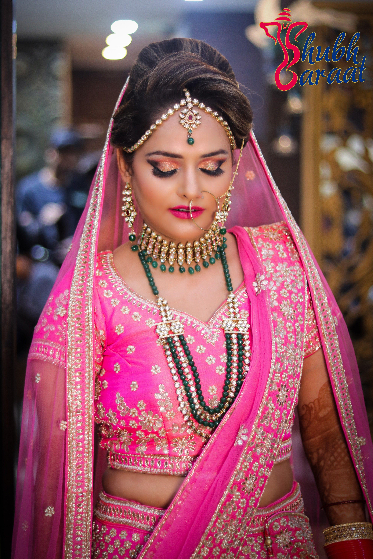 Pink Bridal Lehenga Bridal makeup artist,