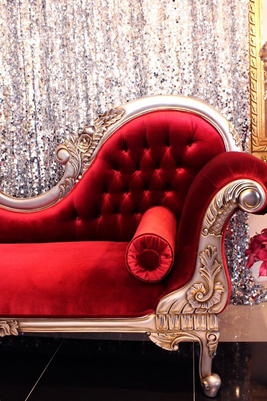 Red French Chaise Lounge Available For Hire At Wedstyle Www Wedstyle Com Au Wedding Furni Velvet Chaise Lounge Red Chaise Lounge Leather Chaise Lounge Chair