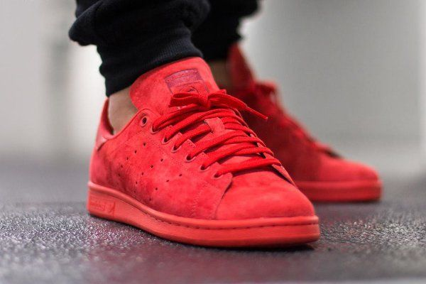Adidas Stan Smith Suede Triple Red (rouge)  c8ec1064f06a