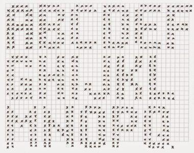 gráficos de letras em crochê no computador  ac457316864