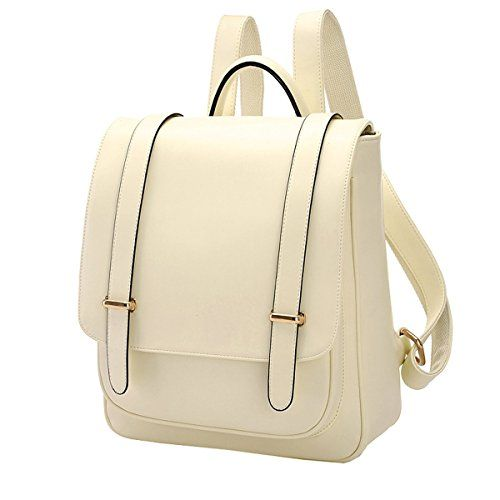 6ba59b426647 Coofit® Preppy Vintage School Shoulder Bags backpack for teen girls White  Cute Backpacks