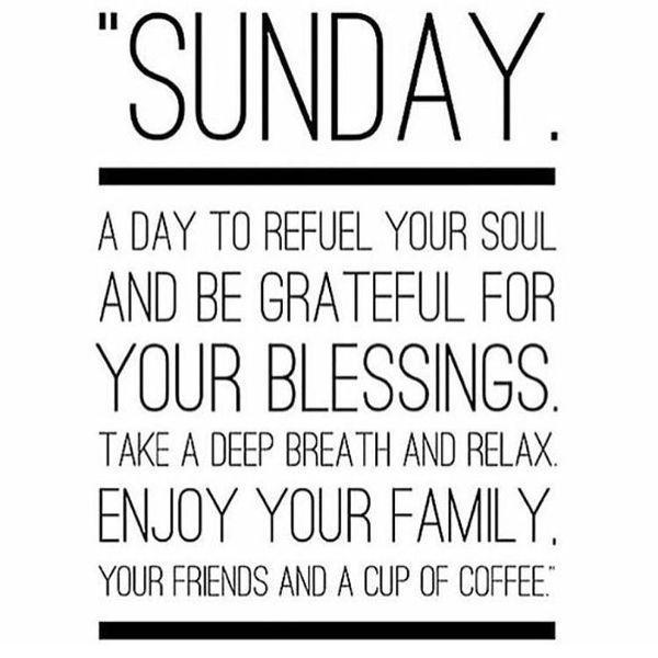 Sunday morning inspirational quotes Happy sunday quotes