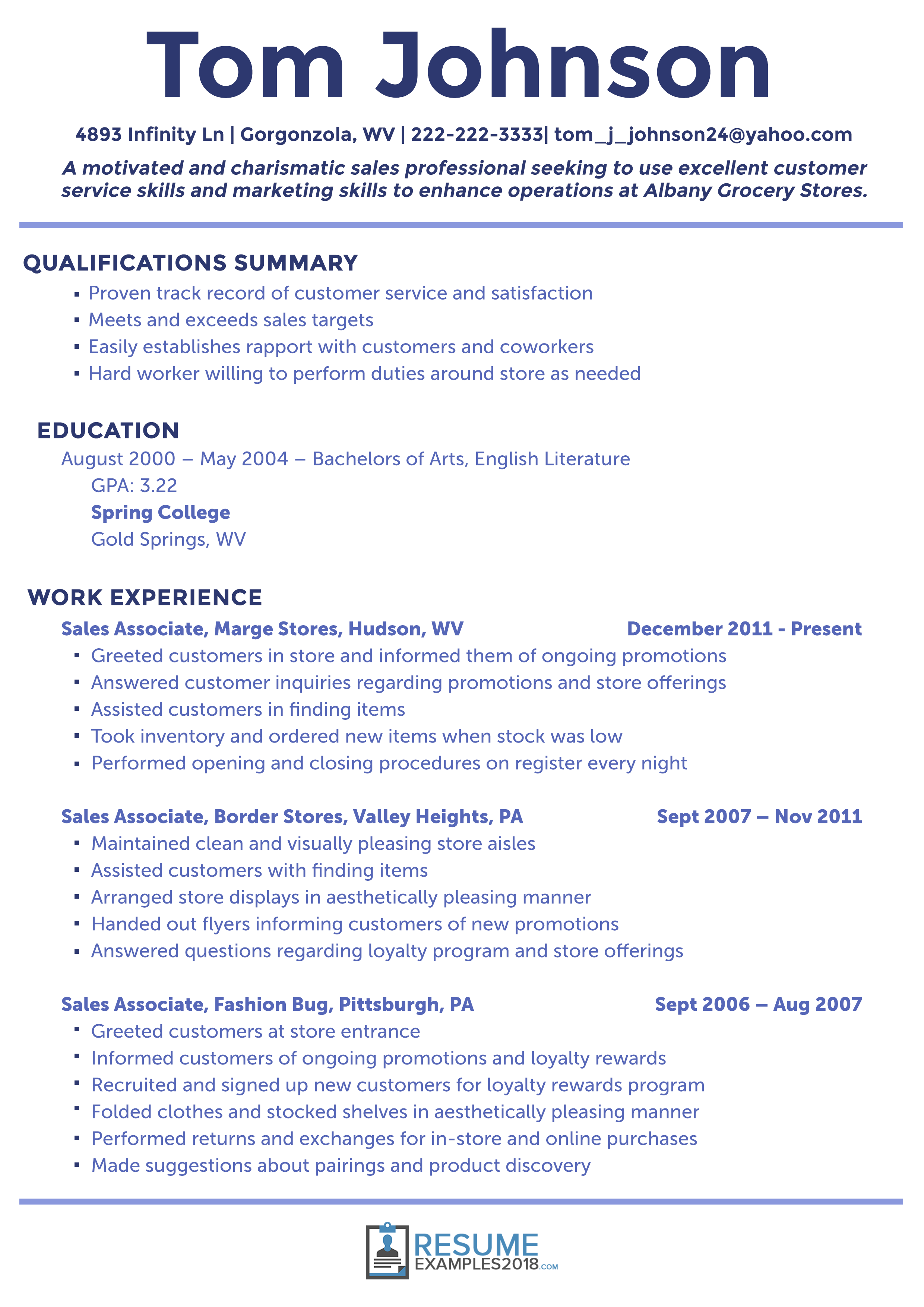 Resume Examples 2018 Customer Service Resume Examples Sales Resume Examples Good Resume Examples Resume Examples