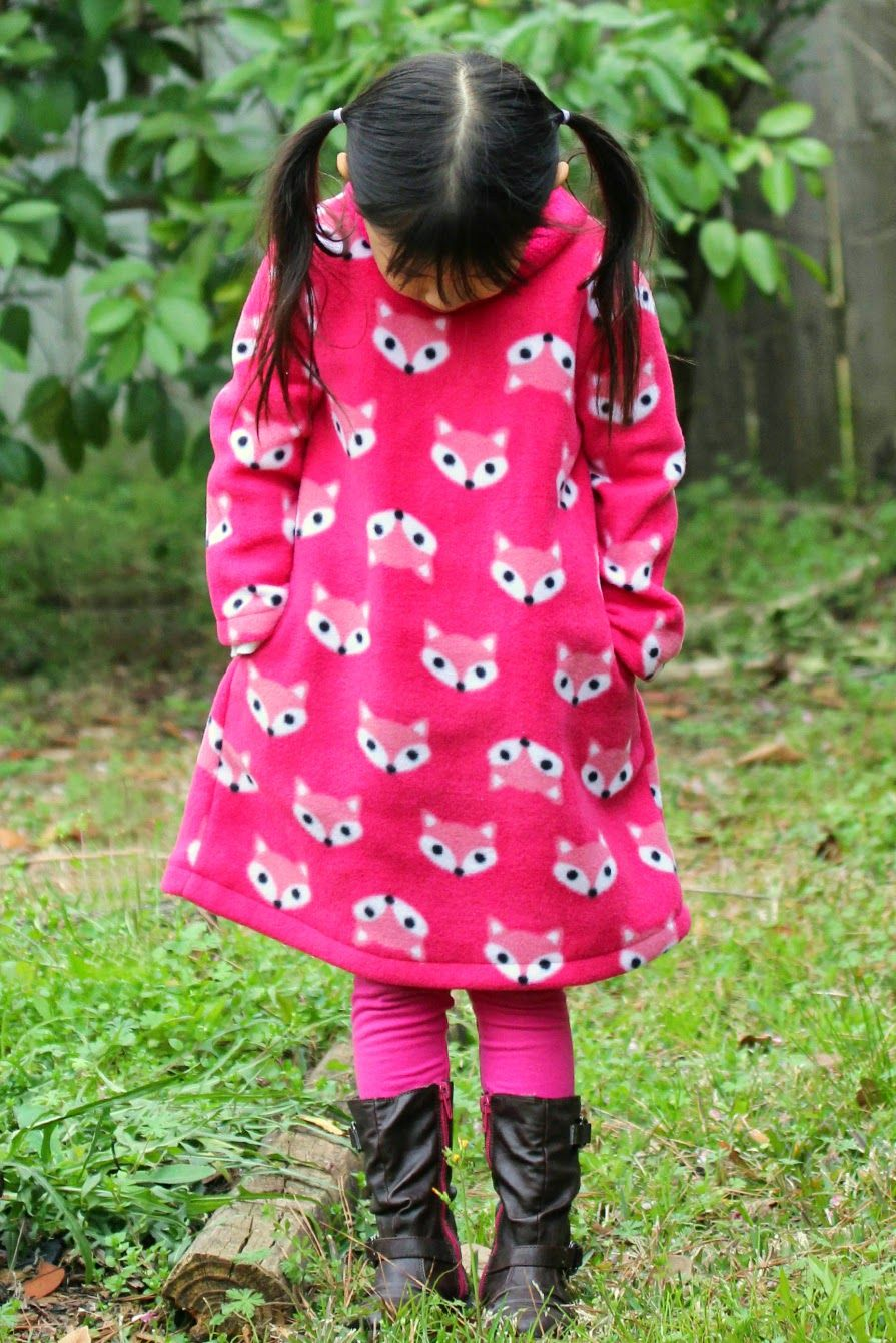 Fox fleece dress for little momo sewing diy kids and toys fleece patterns jeuxipadfo Images