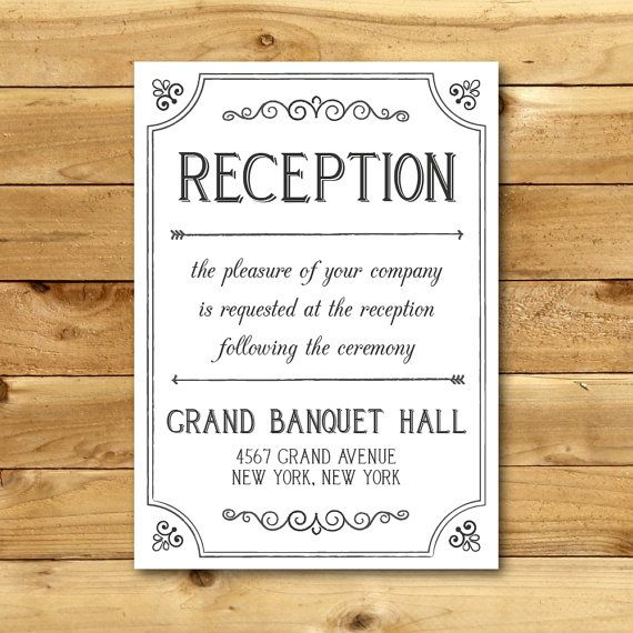 Printable Wedding Reception Direction Card Template Dark Grey White Instant Download Editable M Wedding Printables Wedding Reception Directions Cards
