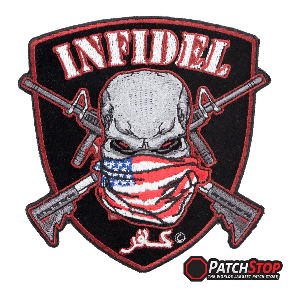 """The Punisher Unit Red Logo Embroidered Iron-on patch 3.5/"""""""