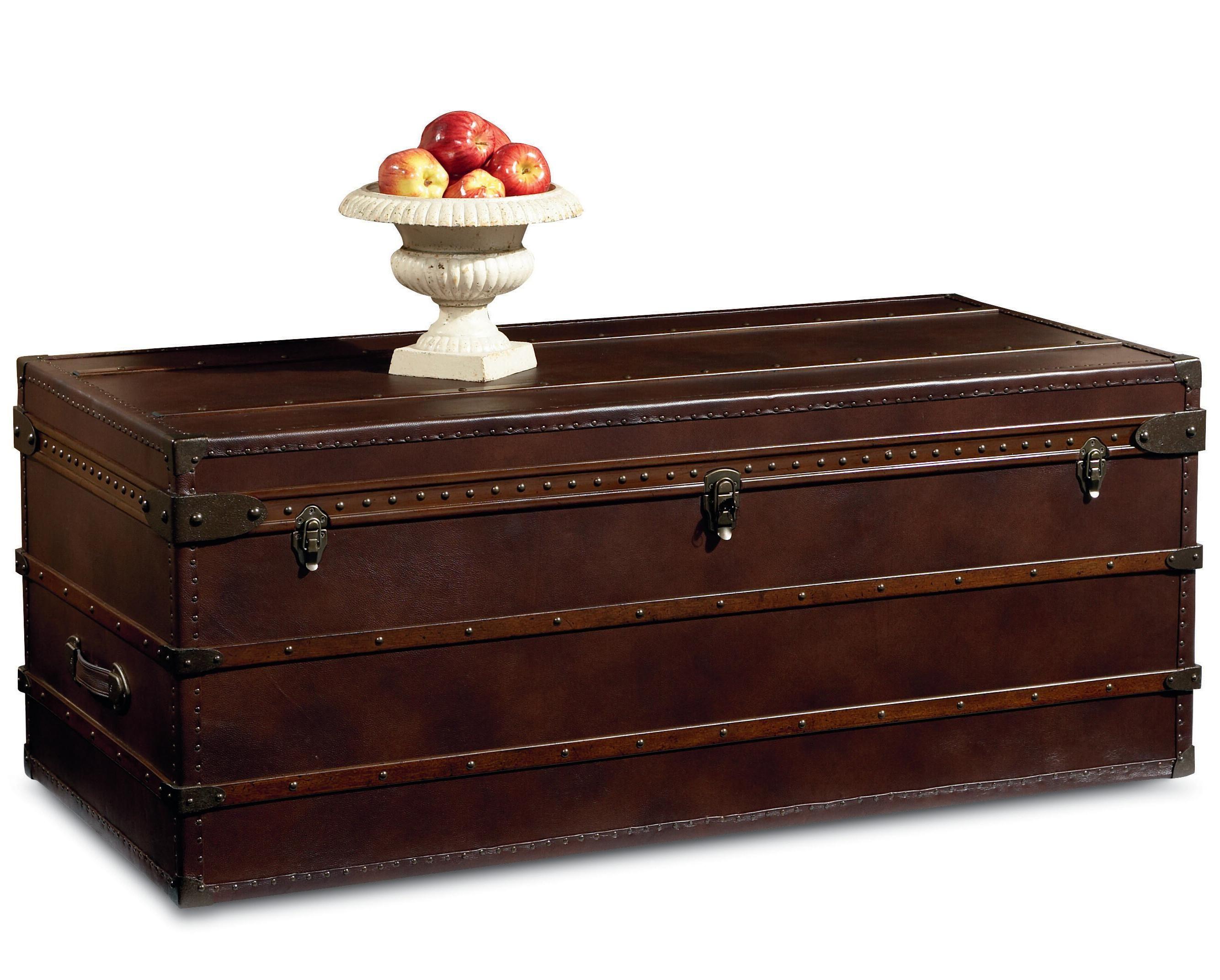 Elizabeth ii leather steamer trunk by broyhill furniture home elizabeth ii leather steamer trunk by broyhill furniture geotapseo Images