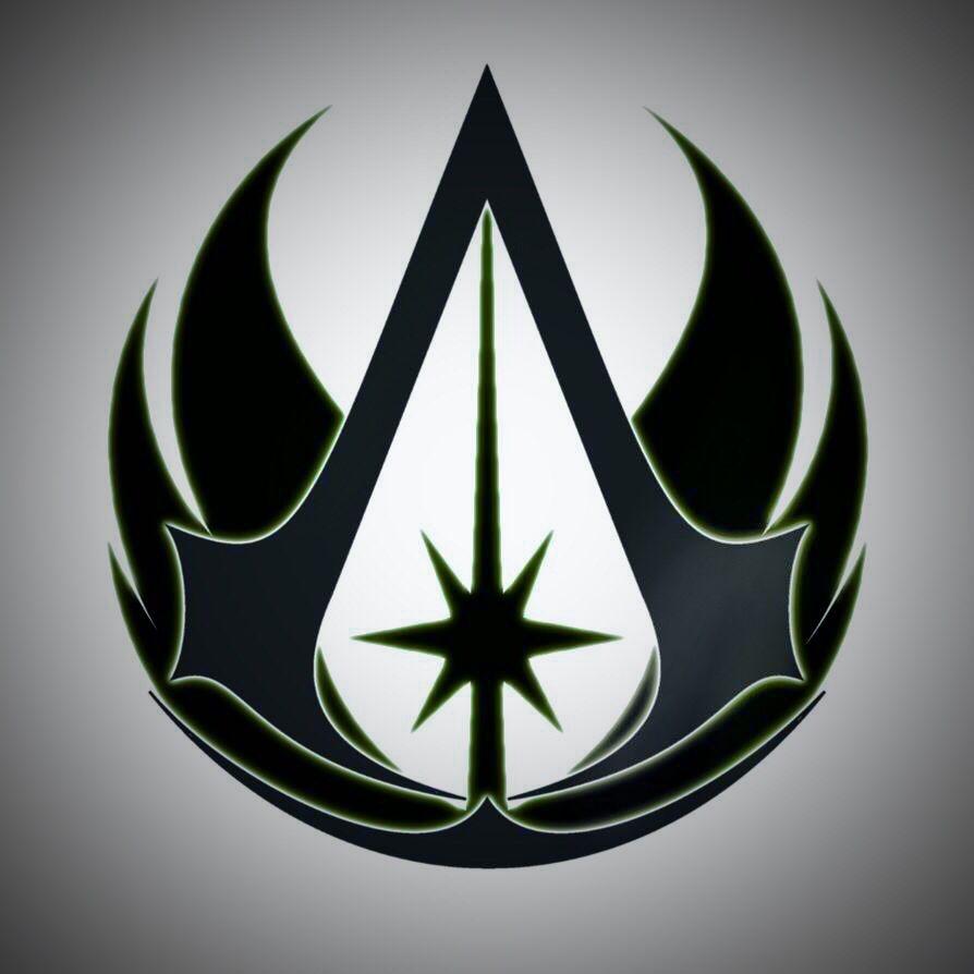 jedi assassins creed logo star wars pinterest assassins creed logo assassins creed and. Black Bedroom Furniture Sets. Home Design Ideas