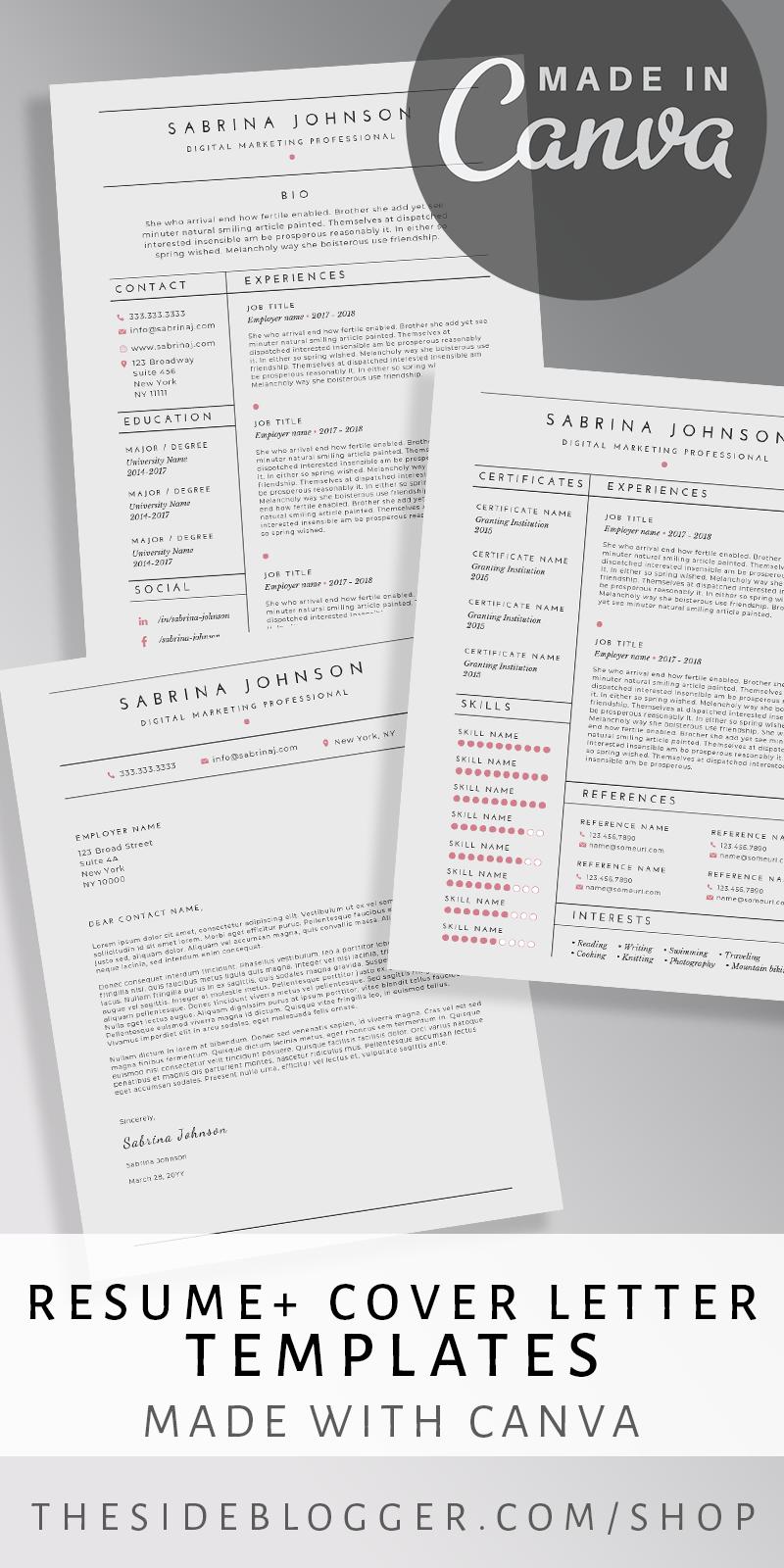 Resume + Cover Letter Resume cover letter template