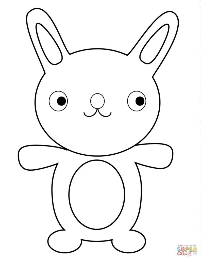 Rabbits Coloring Pages การสอน