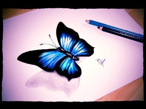 How I Draw A Simple Butterfly Prismacolor Pencils And Markers Speed Sketch Butterfly Drawing Pattern Sketch Colorful Drawings