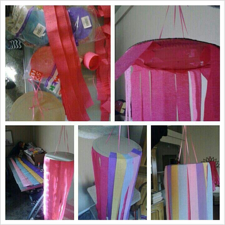 Hanging streamer decorations & Hanging streamer decorations | My crafts | Pinterest | Streamer ...