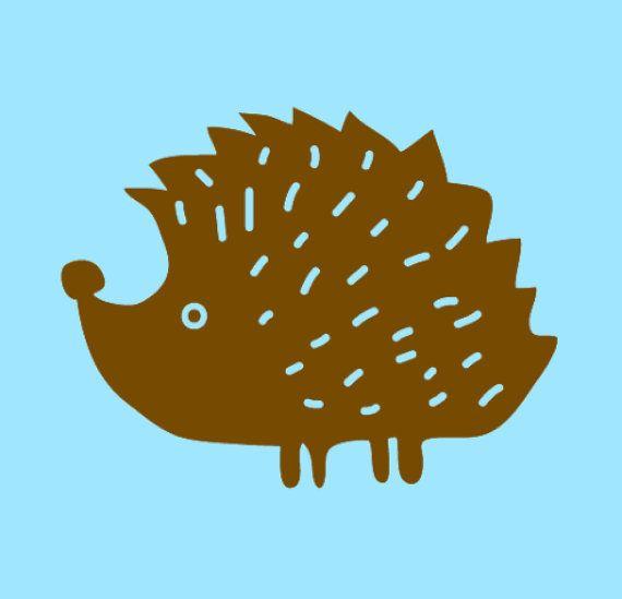 Cute Porcupine Hedgehog vinyl decal