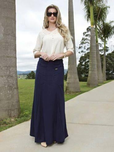 a38d28a6f Moda Cristiana | Moda De Faldas Largas.... | Ropa cristiana, Moda ...
