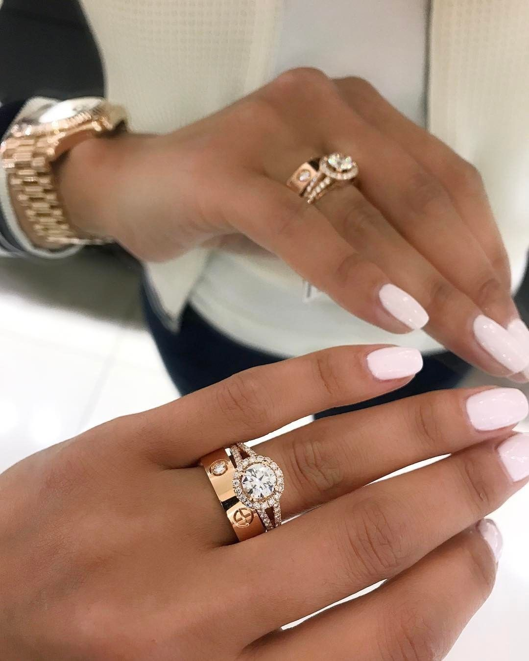6 244 Likes 42 Comments Engagement Rings Gallery Thecaratclub On Instagram Swoonin Cartier Love Ring Cartier Wedding Rings Yellow Gold Engagement Rings