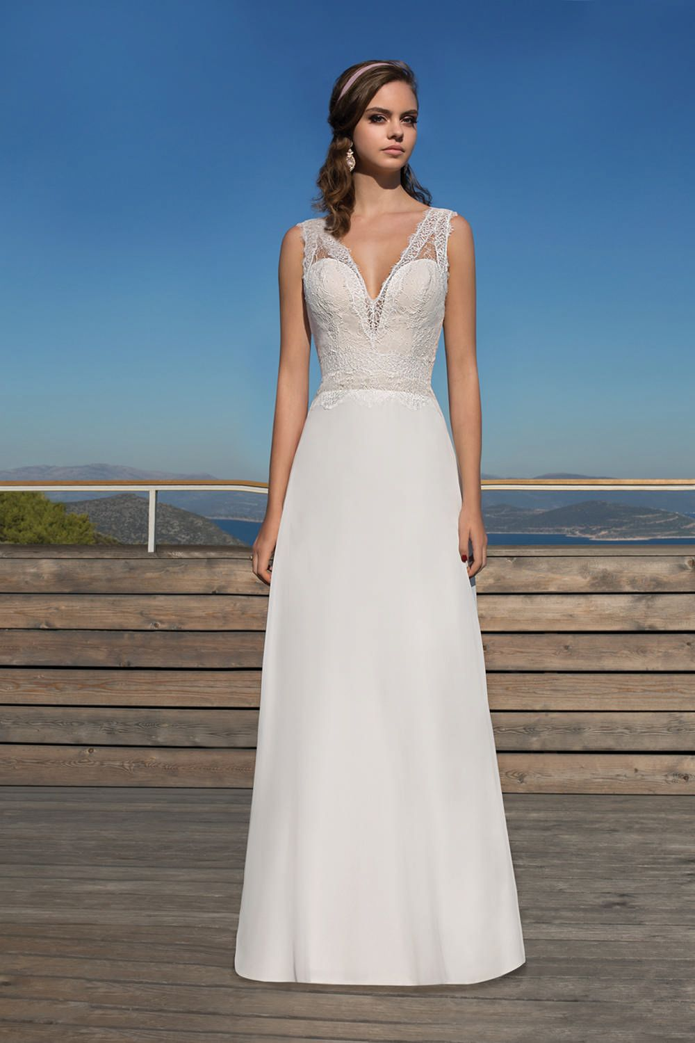 Metropolitan collection wedding dress style me chiffon and