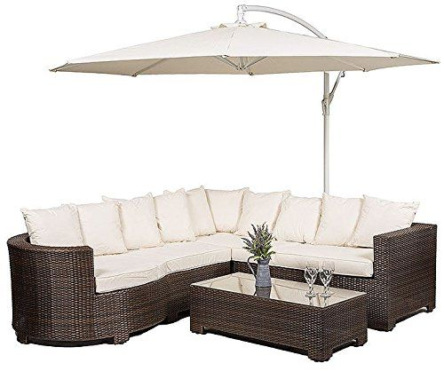 Garden Furniture Covers Tesco Marbella rattan garden furniture 8 seater corner sofa set with glass buy marbella 6 seat rattan corner sofa set with glass top table including parasol and waterproof dust cover garden lounge furniture from our rattan garden workwithnaturefo