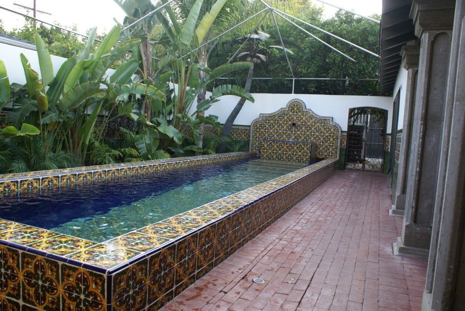 Incroyable Spanish Style Pools | Wonderful Spanish Pool Tile Designs With Cobalt Blue  Color For Pool .