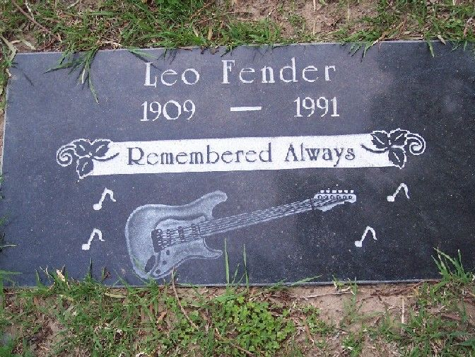 Leo Fender (1909 - 1991) He was a pioneer in the development of electric guitars and amps, among his famous guitar models are the Telecaster and the Stratocaster