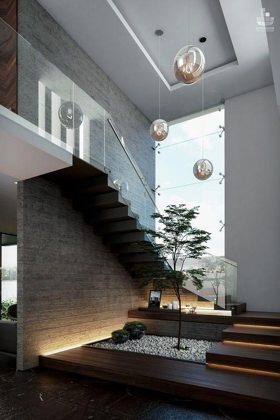 見せ場は階段。