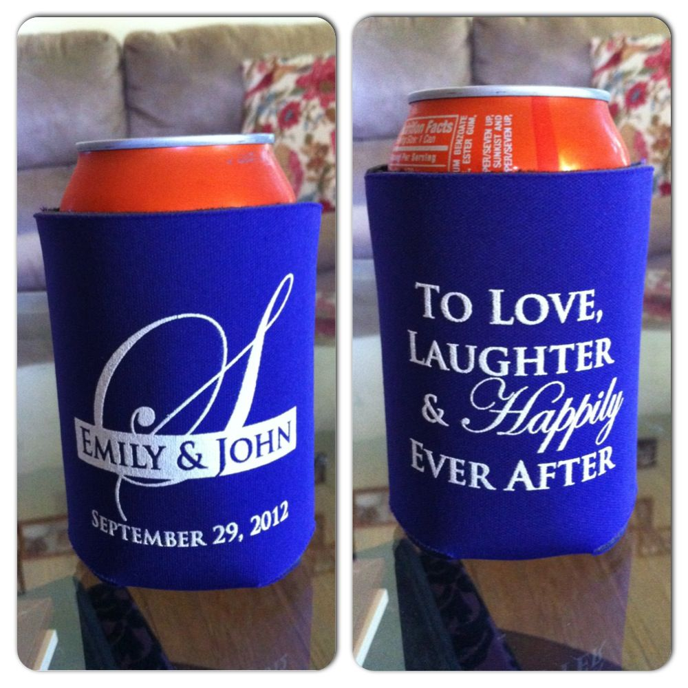 Koozies for your wedding! Order from www.thecuplady.com | Wedding ...