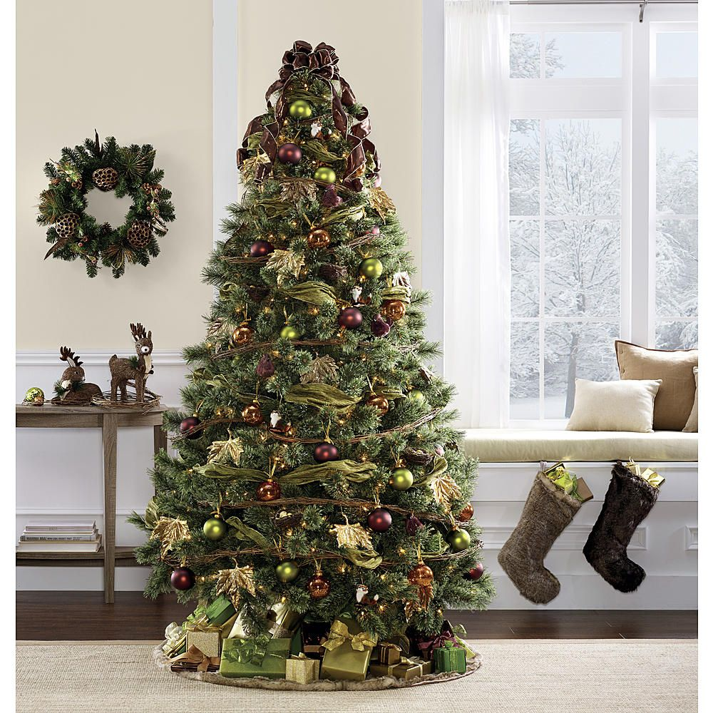 Kmart Com Christmas Tree Decorations Green Christmas Tree Gold Christmas Tree