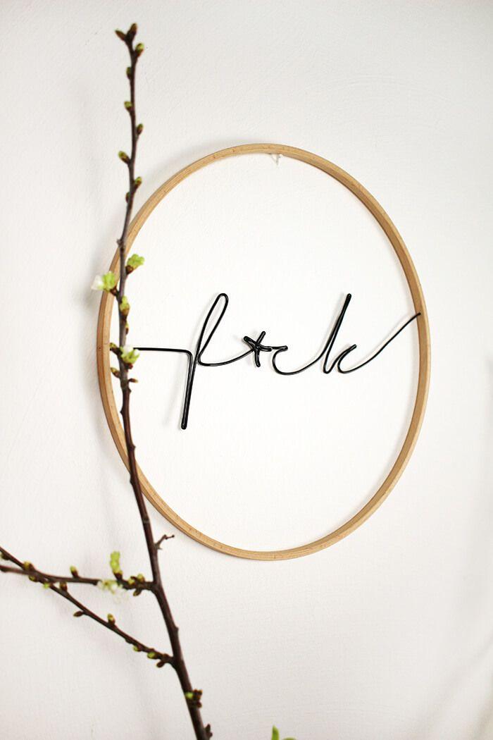 Do it yourself lettering aus draht im stickrahmen basteln craft solutioingenieria Choice Image