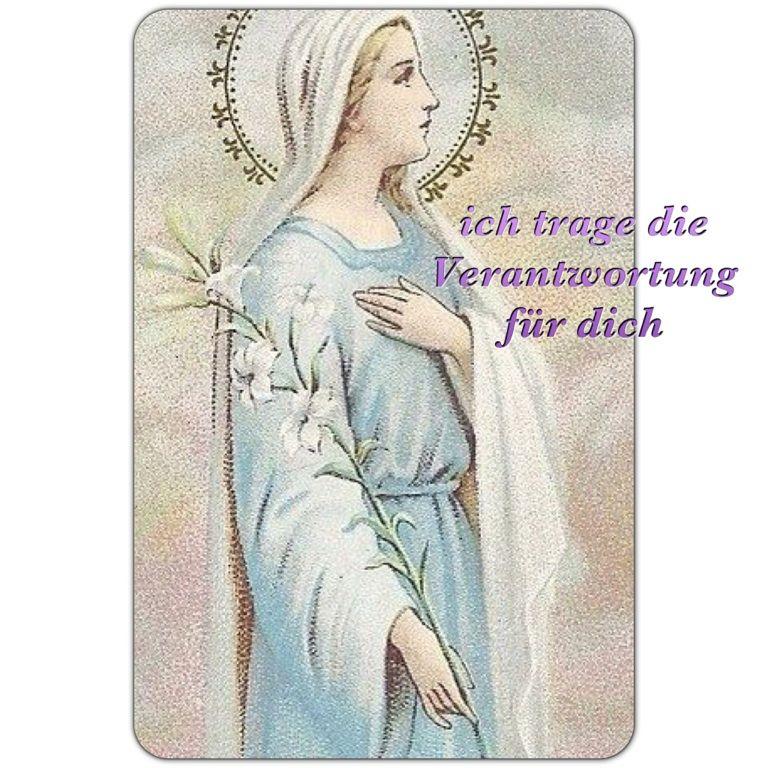 die göttliche Mutter trägt die Verantwortung für uns