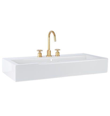 Winslow Wall Mount Wide Sink Standard 8 Faucet Spread C8084